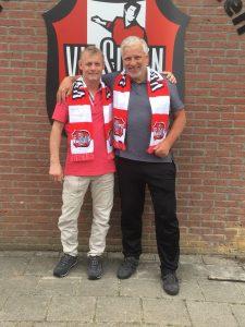 Herman Schepers en John van Zweden bij het Herman broodtoernooi
